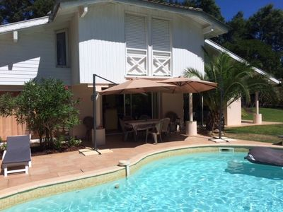 Photo for Pleasant villa for 8 people with pool