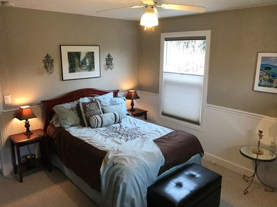 Bedroom with full mattress