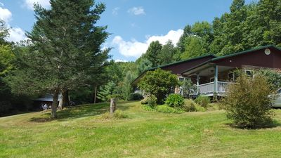Photo for 40 acre Creekside Mountain Getaway. Relax, then have an adventure!