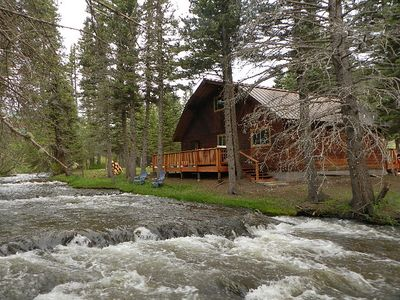 Photo for Fish Off The Back Porch!  Picture Perfect Red River Cabin On The River!