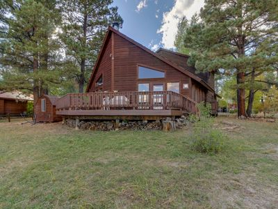 Photo for NEW LISTING! Waterfront cabin w/ lake & mountain views, furnished deck, & dock