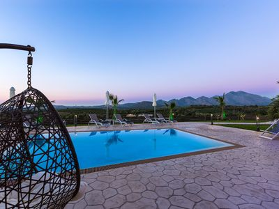 Photo for Newly Built Villa with Panoramic Views, heated pool, barbecue & playground!