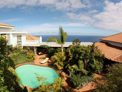 Photo for Luxurious holiday house with pool, sauna and stunning sea views!