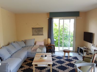 Photo for Superb Interlude house 2/4 pers - 5 minutes walk from Nauzan beach - Garden