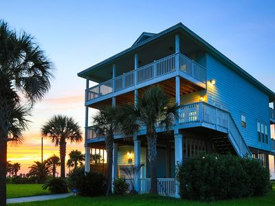 Photo for Amazing Getaway!! Featured on HGTV, Stunning Beach & Bay views LAZY RIVER!