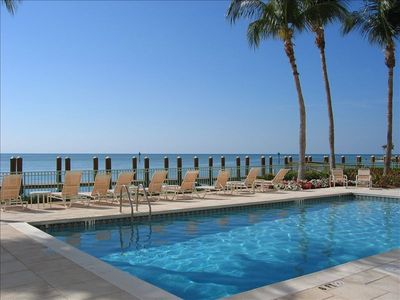 The view of the Gulf from the pool