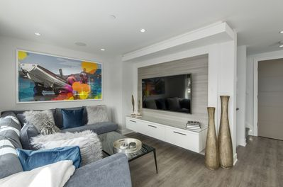 """Living Room with 65"""" Samsung Smart TV"""