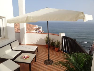 Photo for Beachfront Penthouse Large Terrace Breathtaking Sea Views