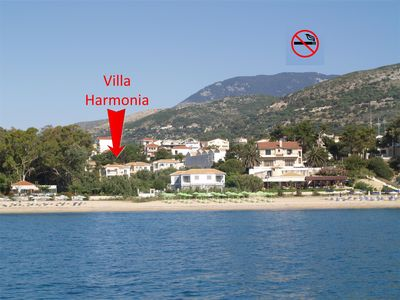 Photo for 3 bed Villa, air con & WiFi sea views 3 mins from town and beach. No car needed!