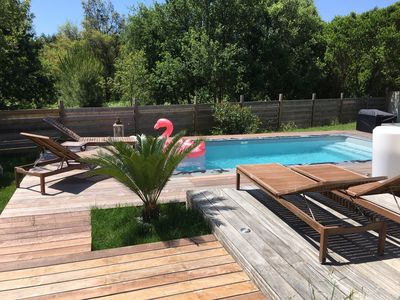 Photo for house with pool, 3kms from the ocean near capbreton, hossegor