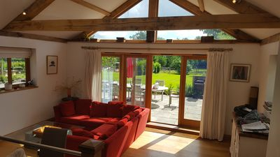 Photo for Self Catering. Contemporary Oak Framed. 2 Large Ensuite Beds.Chiddingfold/Haslem