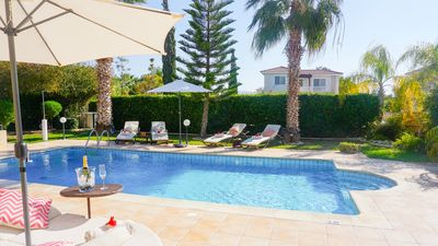 Photo for Villa Casa Mia -  Luxury and Spacious Villa with BBQ and Free UK Channels, 600 meters from the beach and Coral Bay Strip