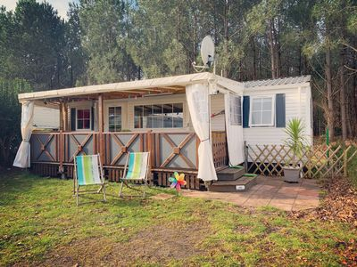 Photo for Mobile home 4/6 pers air-conditioned close to the Lake