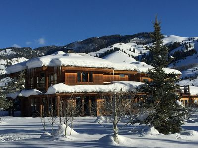 Photo for Scenic Dark Sky Reserve Log Cabin Luxury -Ketchum + Sun Valley, Idaho Vacation