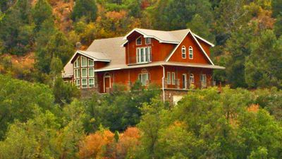 Photo for Home on 16 acres nestled high on the hill with views overlooking Lydia's Canyon