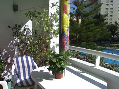 Photo for Sunny, spacious, three bed apartment, Los Boliches, Costa del Sol (WiFi access)