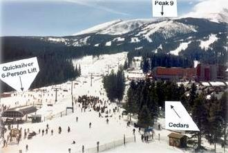 The Cedars Townhomes are located adjacent to the Quicksilver Lift