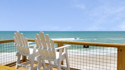 Photo for Gulf-Front Beauty right on the ocean! Million dollar views, steps to the water!