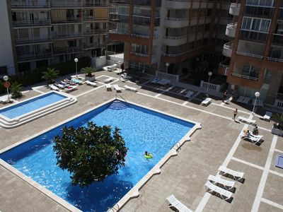 Photo for Central apartment with pool and large terrace, near the sea
