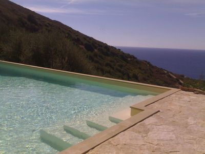 Photo for Torre delle Stelle, private sea view villa - sunny aspect and large pool - sleep