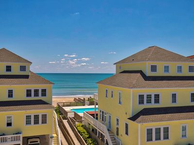 Photo for Luxurious Oceanfront B w/pool, elevator, 5 BR, steps from the sand and surf