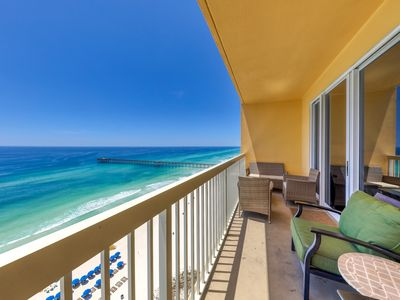 Photo for Charming beachfront condo w/shared pool, gym, beach access - near everything!