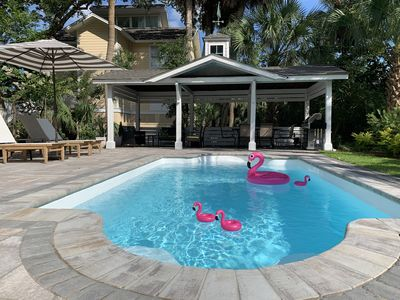 Photo for NEW RESORT-STYLE POOL, CUTE HOUSE, 88 STEPS TO SAND!