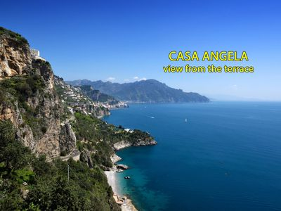 Photo for House with beautiful sea view and Amalfi,  parking nearby