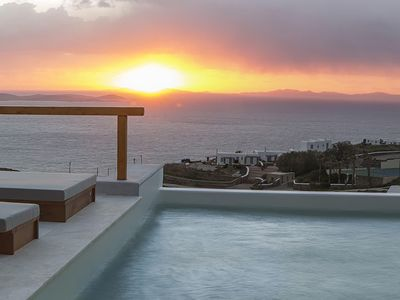 Photo for Panoramic Villa Apellos to rent in Mykonos, with 5 bedrooms, private pool, 12 sleeps.