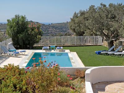 Photo for Lovely villa for family getaways,heated swimming pool,amazing countryview