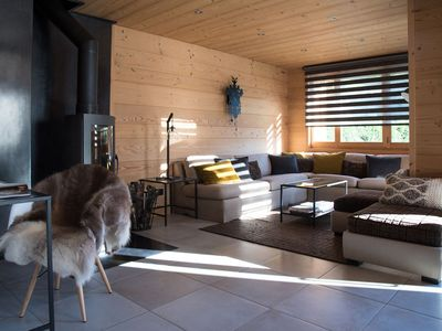 Photo for CHALET 4M THE CARROZ FOOT OF SLOPES LARGE AND SPACIOUS SAUNA. JACCUZI