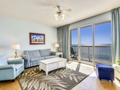 Photo for Colorful, coastal and SANITIZED Gulf front condo available for your vacation!