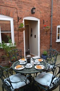 Photo for 2 bed cottage with private courtyard in the historic centre of Ludlow