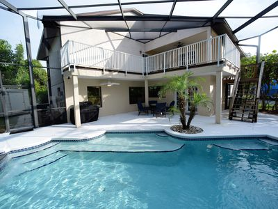 Photo for Huge Beach House w Heated Pool and Jacuzzi. Walk to the Beach! Sleeps up to 16!