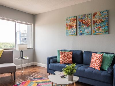 Photo for Colorful Victorian Village 1BR Apt w/ Pool + Gym