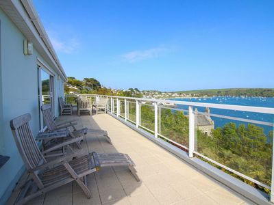 Photo for Panoramic views across St Mawes from this exclusive location