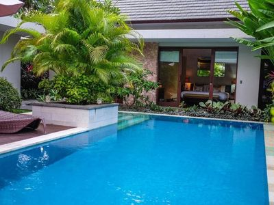Photo for BEACHFRONT 3 BEDROOM FAMILY VILLA  Villa 9 is a three bedroom villa which sleeps 6 people