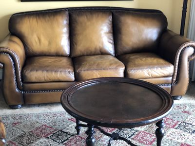 Queen leather sofa