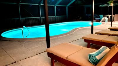 Photo for Renovated home with private heated pool steps to the beach. Sanibel Florida