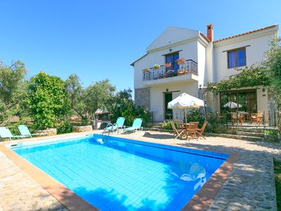 Photo for Villa Nineta: Large Private Pool, Walk to Beach, Sea Views, A/C, WiFi, Car Not Required