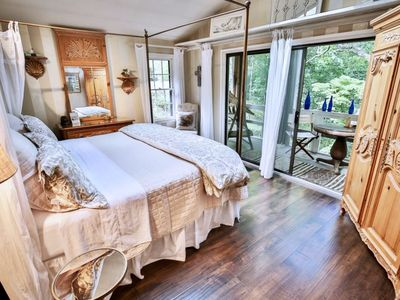 bedroom waterfall. Master bedroom and balcony over waterfall  Sleep to the sounds of water Magnificent Home with 70 ft Waterfall on 5 VRBO