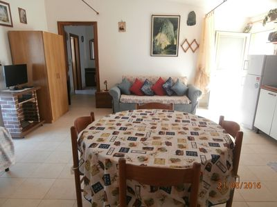 Photo for Delightful apartment in the hills overlooking the sea (1 km and a half from the sea)