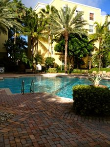 Pool steps away from condo