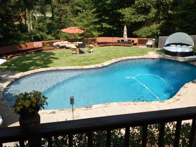 Photo for Beautiful Country Getaway, 5 Miles From Elvis's Graceland, Serene Waterfall/Pool