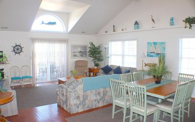 Photo for Huge 5 BR/3BA- 1 Block to Beach & Fun Piers,Families & Adult Groups (NO PROMS!)