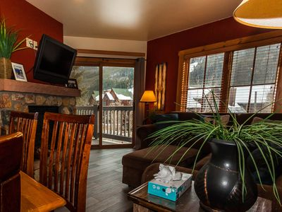 Photo for River Run Condo, Slope Views from Balcony, King Bed, 2 Bunk Beds, Free WIFI