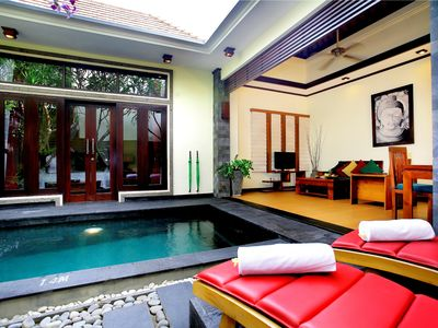 Photo for Villa with Private Pool + B'fast ( get free 30 mnt massage for min stay 3 night