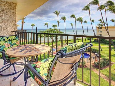 Photo for Kanai A Nalu unit 414 Ocean front ocean view!  Quiet home listen to the sounds of the sea