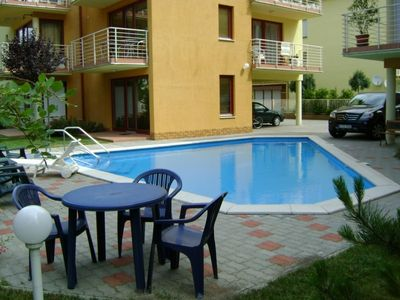Apartment with air-conditioner next to pool with 2 floors, beach 120m, free WIFI