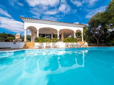 Photo for Luxury villa in Menorca-Pool with jacuzzi and Full aircon